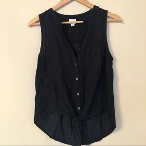 Knotted Crop Top Button Up